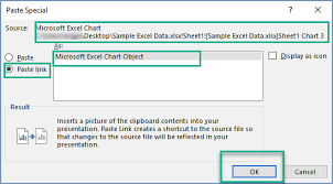 Embed Chart In Powerpoint How To Embed Or Link An Excel File In Powerpoint Present