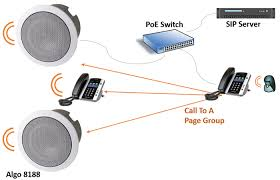 algo ip paging pa system speakers adapters for public address algo ip paging making a page group call