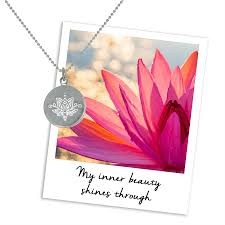beautiful lotus necklace
