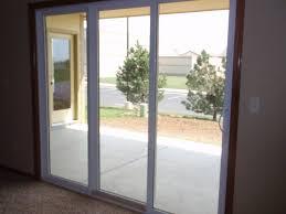 modren door triple panel patio door with triple sliding glass door p