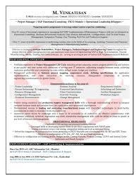 Sap Consultant Resume Template Best Sample Sap Fico Sample Resumes