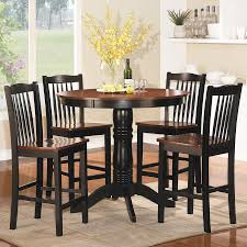 homelegance andover antique oak black dining set with round counter height table