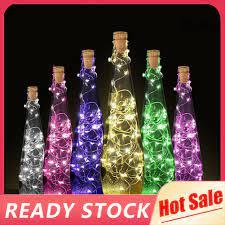 Đèn LED 15/20 bóng hình nút bần chai rượu trang trí tiệc