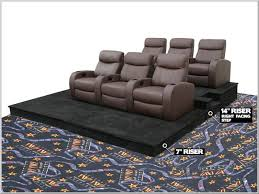 theater seat riser. Perfect Riser Home Theater Seat Risers And Stadium Seating Platforms To Riser