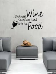 wall decor decals quotes i cook with wine wall art vinyl lounge kitchen quote kitchen i on wall art decals quotes for kitchen with wall decor decals quotes i cook with wine wall art vinyl lounge