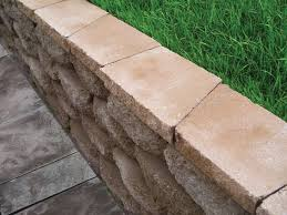 complete your retaining wall with caps