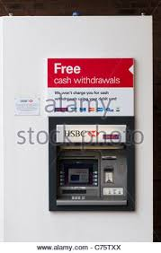 How To Get Free Money From Vending Machine Enchanting Free Cash Withdrawals At HSBC Cash Machines Stock Photo 48