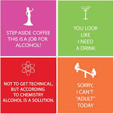 Funny Cocktail Napkins Fun Quotes Colorful Variety Pack 40 Total Napkins