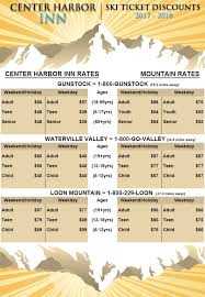 ski areas in new hshire s lakes region