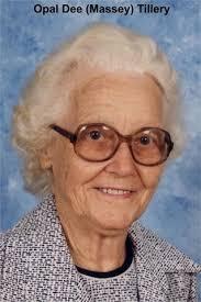 Opal Dee Tillery (Massey) (1910 - 1996) - Genealogy