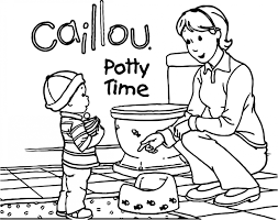 Caillou Coloring Pages Caillou Potty Time Coloring Page Www