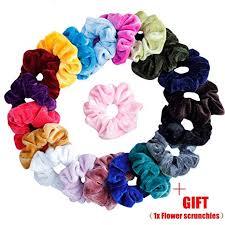 KECUCO <b>20 Pcs</b> Hair Scrunchies Velvet Elastic Hair Bands ...