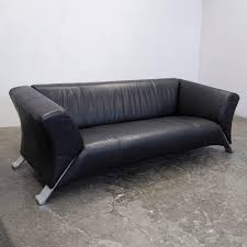 photo rolf benz studio york. Photo Rolf Benz Studio York German Designer Sofa Schwarz Dreisitzer Leder Echtleder With Schlafsofa