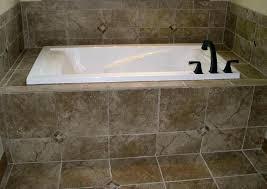 tile tub surround installing around a bathtub ideas bathroom outside corner