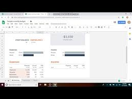 Budget Monthly Expenses Spreadsheet How To Use The Google Sheets Budget Template Free