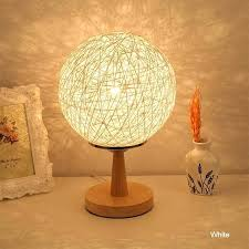 orange table lamp led night stand with bulb ball table lamp shade modern art beside blue