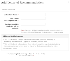 How To Ask For A Recommendation Letter How To Ask And Upload A Letter Of Recommendation In Eras