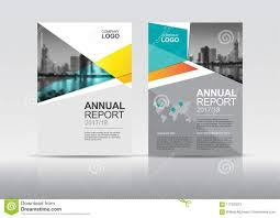 Cover Template Annual Report Brochure Design Stock Vector