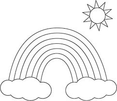 Small Picture Rainbow Printable Coloring Coloring Pages
