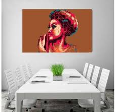 African Woman Portrait View Modern Creative <b>Decoration</b> Paintings ...