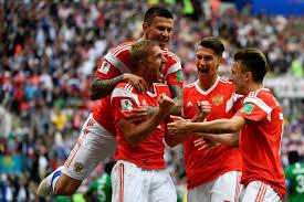Resultado de imagen para Rusia 5 x 0 Arabia Saudita Copa Mundial de Fútbol Rusia 2018