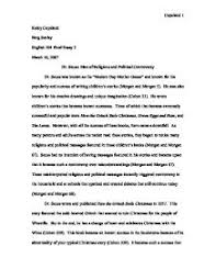 dr seuss essay gcse english marked by teachers com page 1 zoom in