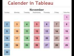 Calendar Chart In Tableau Calender In Tableau