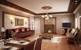 Interior Design For Living Room And Dining Room Georgian Style Living Room And Dining Room In One Open Floor With