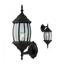 Canarm IOLBK Outdoor Exterior Wall Light Fixture Porch Patio - Black exterior light fixtures