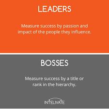 Define Team Leader Leader Vs Boss 12 Defining Characteristics Of A Leader