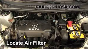 air filter how to 2004 2006 scion xa 2004 scion xa 1 5l 4 cyl Changing Alternator Scion xB remove filter all of the steps needed to remove the air filter