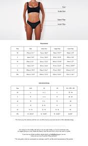 Bathing Suit Top Size Chart Size Guide Fae