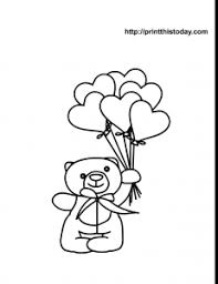 Small Picture Coloring Sheet Teddy Bear With BalloonsSheetPrintable Coloring