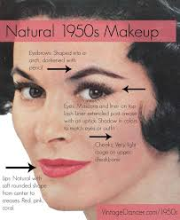 description authentic natural 1950s makeup history and tutorial