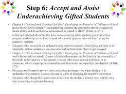 step 6 step 6 accept and ist underachieving gifted students chapter 8 of the