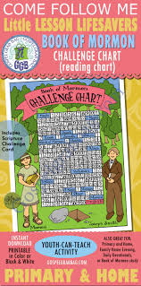Book Of Mormon Activity Challenge Chart With Moroni And