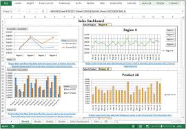 Excel Pivot Chart Dashboard Sales Performance Dashboard Dynamic Chart With Pivot Tables