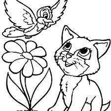 Christmas Cat Coloring Page Kitty Cat Coloring Pages Kitty Cat