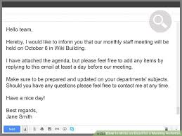 Meet And Greet Meeting Agenda 3 Ways To Write An Email For A Meeting Invitation Wikihow