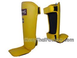 Twins Muay Thai Shin Guards Light Sgl 3 Yellow