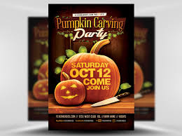 pumpkin carving contest flyer fall pumpkin carving flyer template flyerheroes