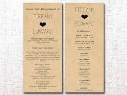 Wedding Ceremony Brochure Free Wedding Program Template Ceremony Booklet Examples