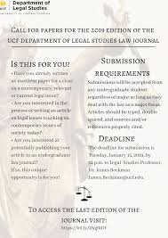 Ucf Legal Studies On Twitter We Are Now Accepting Papers For The