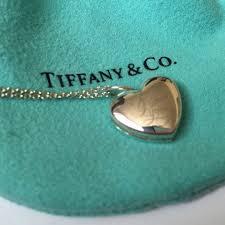 locket size photos tiffany co jewelry never worn tiffany heart shaped locket chain