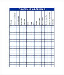 Place Value Chart Example Popular Templates Smartsheet Place Value Chart Place Values