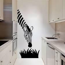 zebra wall decals modern art decoration for your kitchen bedroom or livingroom zebra wall stickers art murals