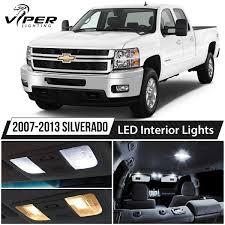 2007 Silverado Interior Lights Details About 2007 2013 Chevy Silverado White Led Interior Lights Package Kit