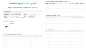 Weekly Project Update Template Under Fontanacountryinn Com