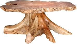 rustic big leaf burl coffee table from dutchcrafters amish