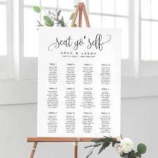 Seat Yo Self Wedding Seating Chart Template Seating Chart